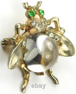 Trifari Sterling'Alfred Philippe' Smallest Jelly Belly Bug or Fly Pin