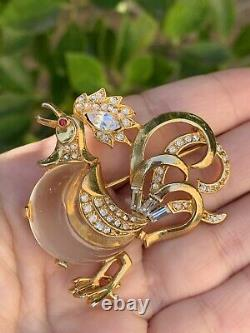 Trifari brooch Jelly Belly Rooster'Alfred Philippe''Fairyland' Very Rare Pin