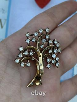 Trifari brooch Tree Of Life 1952 Des 166625 Alfred Philippe Gold Tone Rare Pin