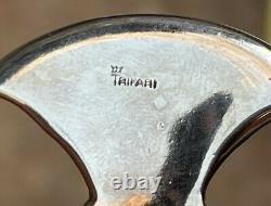 VTG Crown Trifari Alfred Philippe Hatchet Axe Brooch Pin Moonstones 3 1/4 RARE