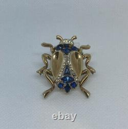Very Rare 1950s Alfred Philippe Trifari Rhinestone Beetle Brooch