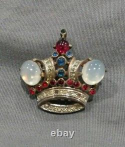 Vintage 1930s Trifari Alfred Philippe Sterling Crown Pin
