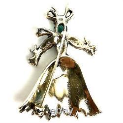 Vintage 1940s TRIFARI Alfred Philippe STRAW MAN-WOMAN Ragdoll PINS Brooches