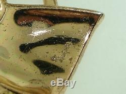 Vintage 1950's Crown Trifari Alfred Philippe Gold Tone Rhinestone Horsehead Pin
