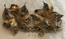 Vintage Alfred Philippe Crown TRIFARI Butterfly Dress Sweater Fur Clip HTF Rare