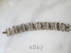 Vintage Art Deco 1935 Trifari KTF Alfred Philippe Pave Rhinestone Wide Bracelet