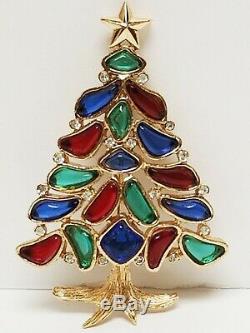 Vintage Crown TRIFARI Alfred Philippe MODERN MOSAICS Christmas Tree Brooch