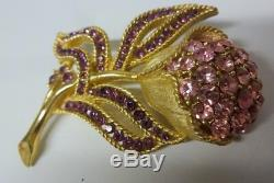 Vintage Crown Trifari Alfred Philippe Gold Tone Flower Pin Brooch Gorgeous
