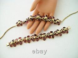 Vintage Crown Trifari Alfred Philippe Purple Poured Glass Necklace AND Bracelet