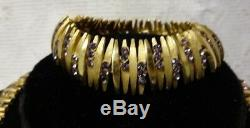 Vintage Crown Trifari Alfred Philippe Rhinestone Bracelet Necklace Set