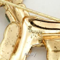 Vintage Signed Crown TRIFARI Alfred Philippe Rhinestone Dog Poodle Brooch Pin