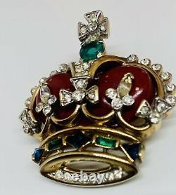 Vintage Trifari Alfred Philippe 1953 Coronation Crown Brooch