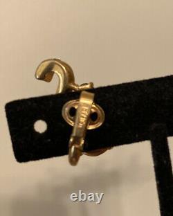 Vintage Trifari Earrings Alfred Philippe Royal Crown Ruby Cabochon