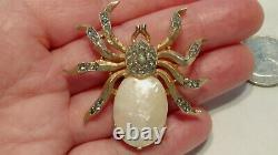 Vintage Trifari Fantasia SPIDER BROOCH PIN Mother of Pearl Alfred Philippe