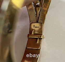 Vtg 1950trifarialfred Philippe Jeweled Symphonygreen Blu Rhinestone Bracelet